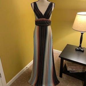 Body Central Striped Maxi Dress